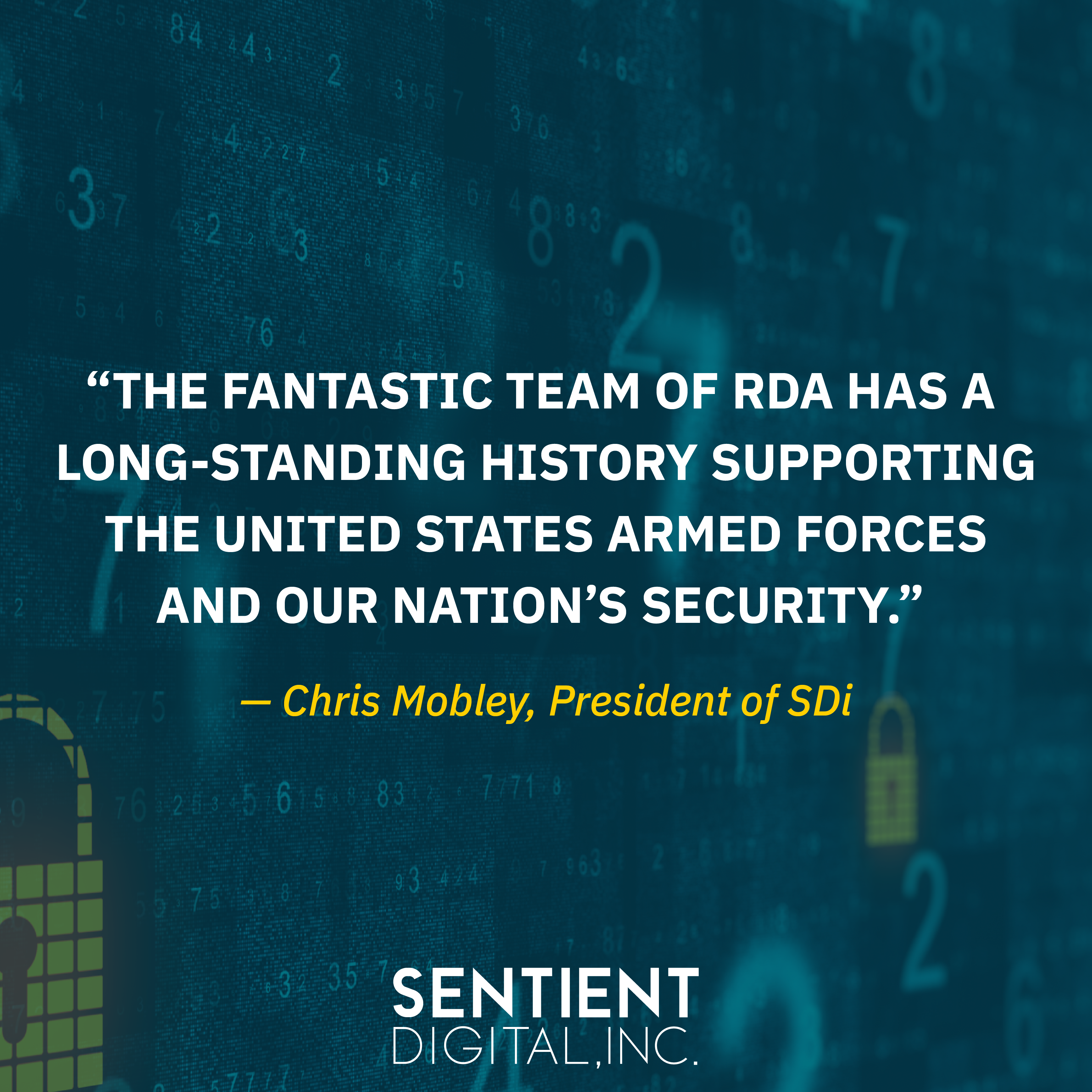 Check out this graphic or keep reading to see what Chris Mobley, SDi's President, had to say about the team at RDA.